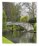Spring And The River Cam Fleece Blanket