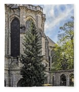 Spring At Chartres Fleece Blanket
