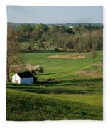 Spring At Maurice Stevens Spring House Fleece Blanket