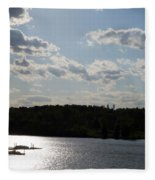 Spring At Smith Mountain Lake Fleece Blanket