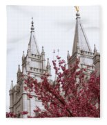 Spring At The Temple Fleece Blanket