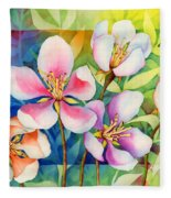 Spring Ballerinas Fleece Blanket