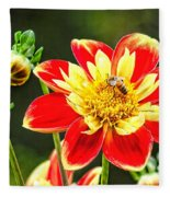 Spring Bee Fleece Blanket
