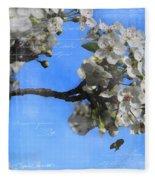Spring Bee Fleece Blanket