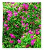 Spring Blooms Fleece Blanket