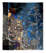 Spring Blossoms In The City - New York Fleece Blanket