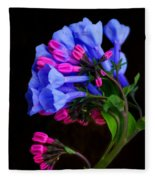 Spring Bluebells Fleece Blanket