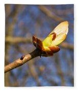Spring Bud Fleece Blanket