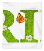 Spring Butterflies Fleece Blanket