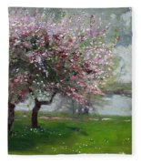 Spring By The River Fleece Blanket