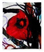 Spring Cardinal Fleece Blanket