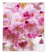 Spring Cherry Blossoms  Fleece Blanket