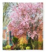 Spring - Cherry Tree By Brick House Fleece Blanket