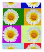 Spring Collage Fleece Blanket