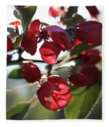 Spring Crabapple Blossom Fleece Blanket