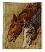 Spring Creek Basin Wild Horses Fleece Blanket