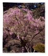 Spring Day In Park Fleece Blanket