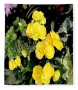 Spring Delight In Yellow Fleece Blanket