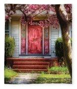 Spring - Door - Westfield Nj - Pink Fleece Blanket