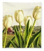 Spring Down On The Farm Fleece Blanket