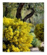Spring Flora Fleece Blanket
