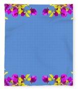 Spring Flower Frame Fleece Blanket