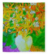 Spring Flowers Fleece Blanket