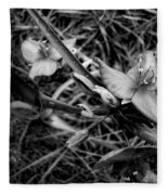 Spring Flowers Bw Fleece Blanket