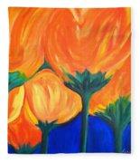 Spring Flowers Fleece Blanket