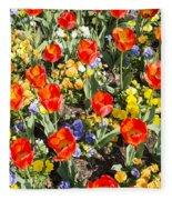Spring Flowers No. 2 Fleece Blanket