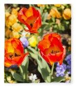 Spring Flowers No. 3 Fleece Blanket