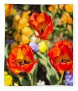 Spring Flowers No. 4 Fleece Blanket