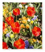 Spring Flowers No. 5 Fleece Blanket