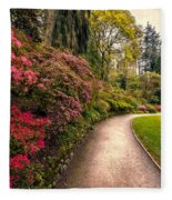 Spring Footpath Fleece Blanket