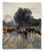 Spring Frost Fleece Blanket