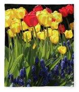 Spring Garden Sunshine Square Fleece Blanket