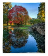 Spring Grove In The Fall Fleece Blanket