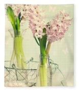 Spring Hyacinths Fleece Blanket