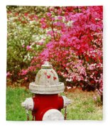 Spring Hydrant Fleece Blanket