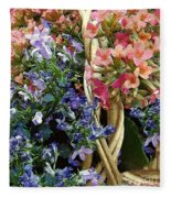 Spring In A Basket Fleece Blanket