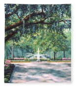Spring In Forsythe Park Fleece Blanket