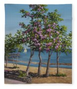 Spring In Kings Beach Lake Tahoe Fleece Blanket