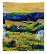 Spring In Matagne  Fleece Blanket