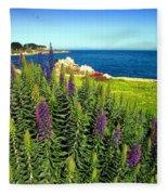 Spring In Pacific Grove Ca Two Fleece Blanket