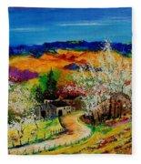 spring in Sechery Fleece Blanket