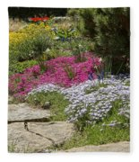 Spring In The Garden Dsc03678 Fleece Blanket