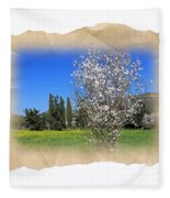 Spring In The Paper Fleece Blanket