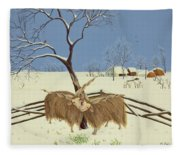 Spring In Winter Fleece Blanket