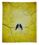 Spring Is A Time Of Love Fleece Blanket