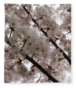 Spring Is Beautiful - A Cloud Of Pastel Pink Blossoms Fleece Blanket